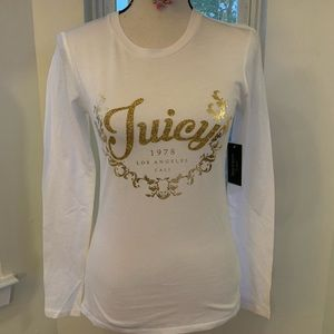 💕NWT Juicy Couture White TRK Enchanted Wreath Tee